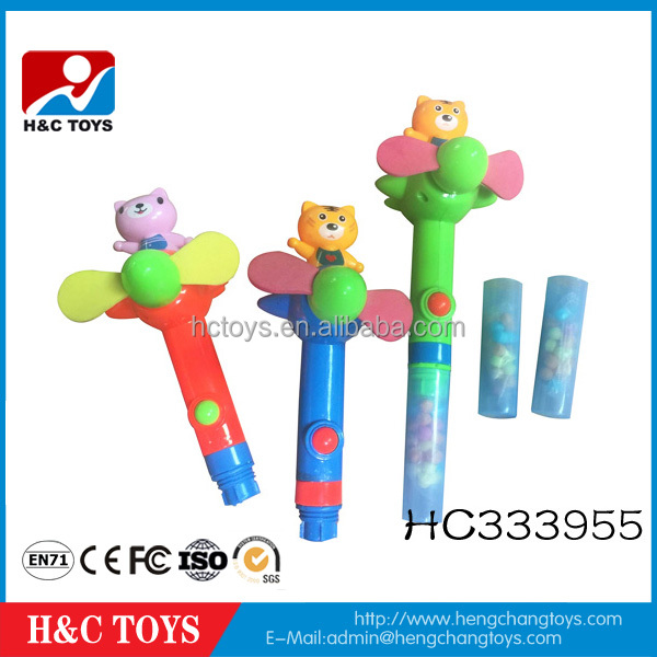 Cartoon fan toy candy, promotion gift candy toy, hand fan toy for kids HC333955