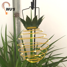 Pineapple Fruit Hanging solar powered rechargeable lantern Outdoor Garden Decoration LED Solar Lantern