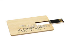 UDP 8GB flash memory wooden name card