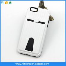 unique designTPU +PC phone case for iphone 6 , case cover with card slot