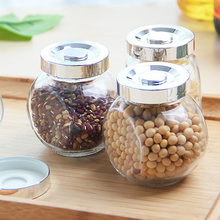 Hot-selling sealed slant glass jar with screw top lid