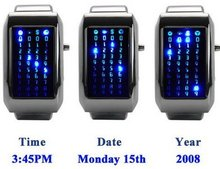 The pimp pusher- LED BINARY WATCH