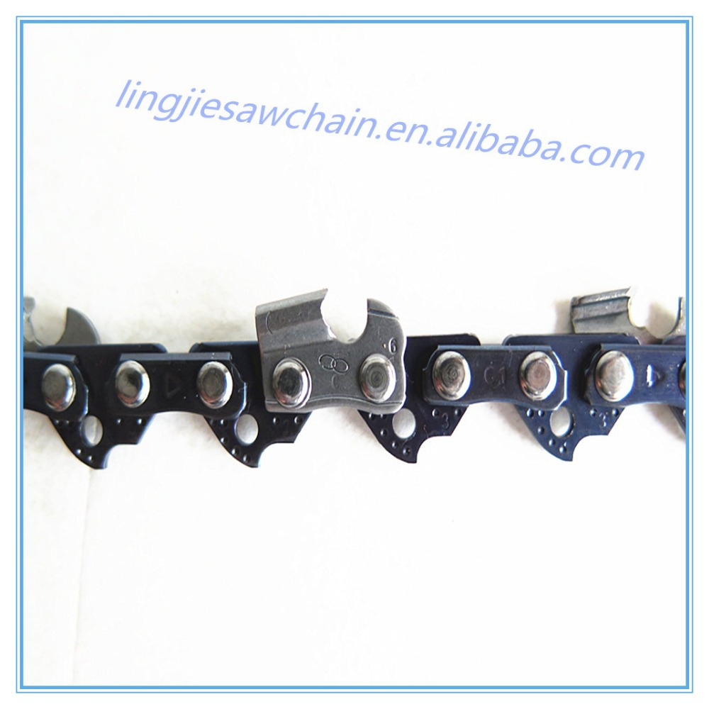 "3/8""LP Double loop saw chain for stainless steel chainsaw"