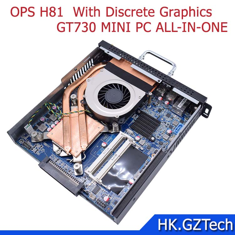 Intel OPS H81 with Discrete Graphics support 4k display LGA 1150 I3/I5I7 CPU 4G 500G WIFI support 4K