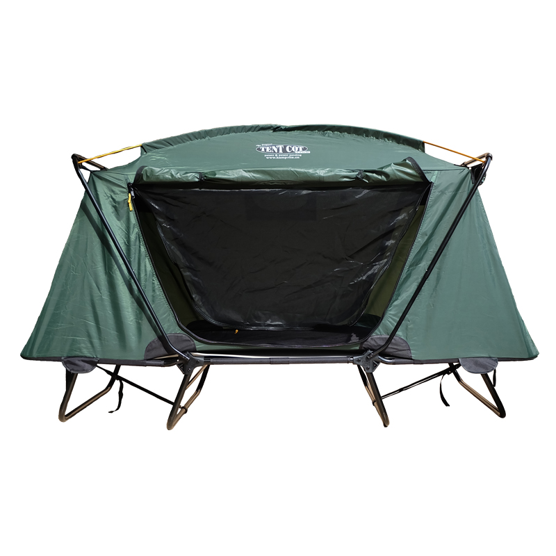 Out Door Green Best Folding Camp Bed For One Person