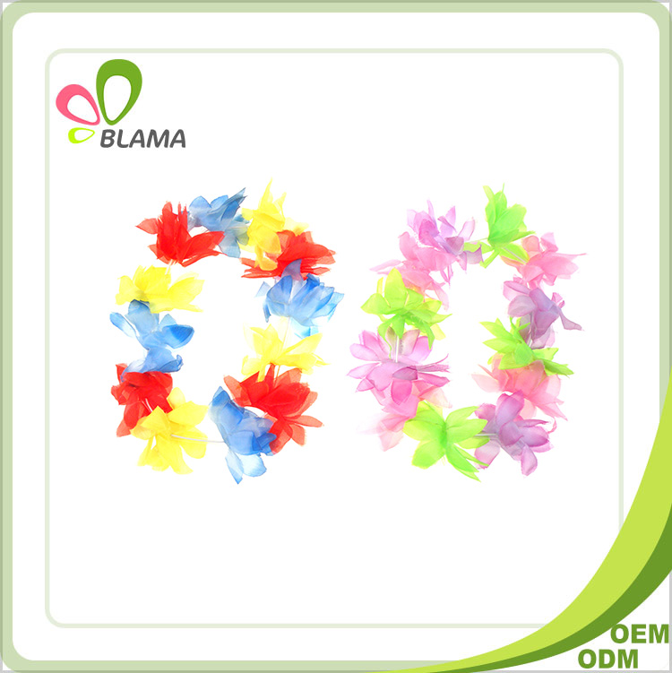 Colorful Decorative Artificial Hawaiian flower strings garlands