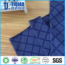 Enzyme wash 100 combed cotton fabric with printing