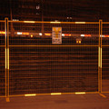 Powder coated Yellow portable movable fencing