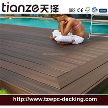 Tianze manufacturer Co-extrusion wpc decking outdoor portable decking