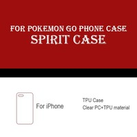 2016 New arrival custom soft TPU plastic PC mobile phone case for pokemon go fit for iPhone 6 6 plus 6s 6s plus