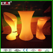 2016 LED outdoor party design commercial high top bar tables
