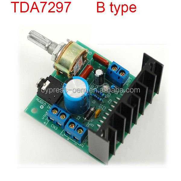 Factory price TDA7297 amplifier B type 2.0 channel / dual sound / stereo audio amplifier