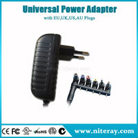 Factory price round pin adaptor plug rohs ac adaptor with CE RoHS UL FCC C-Tick SAA BEAB GS