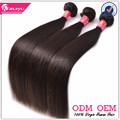 Virgin human hair double weft no shedding brazilian straight hair weave