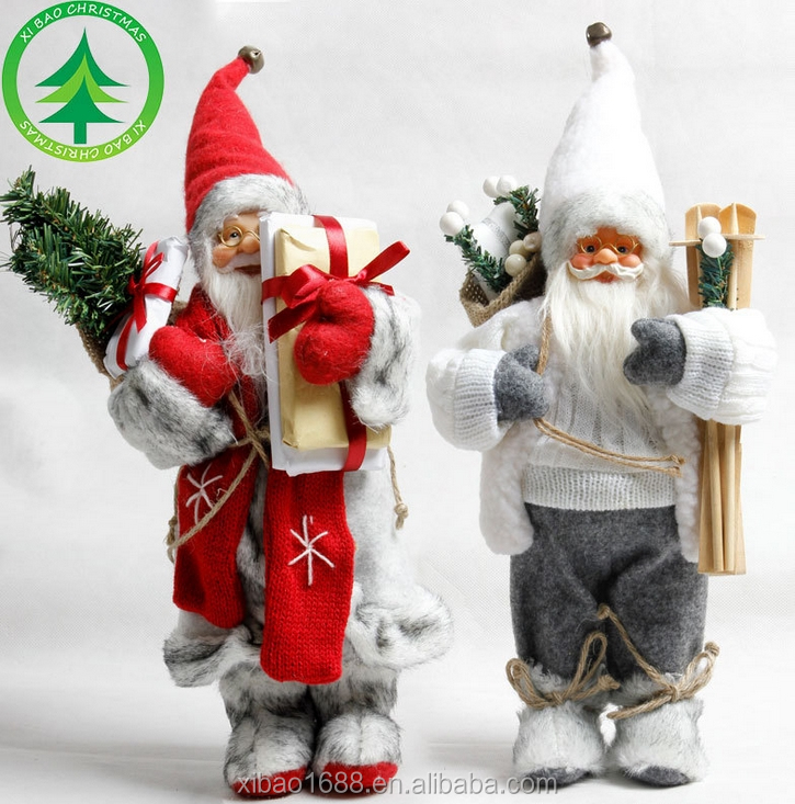 Wholesale 30cm High Quality Santa Claus ,Christmas ornaments