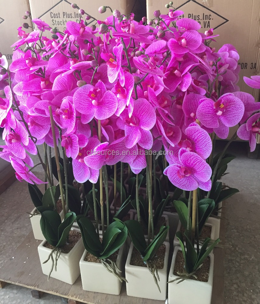 Indoor Home Decorative Purple Artificial FLowers Orchids