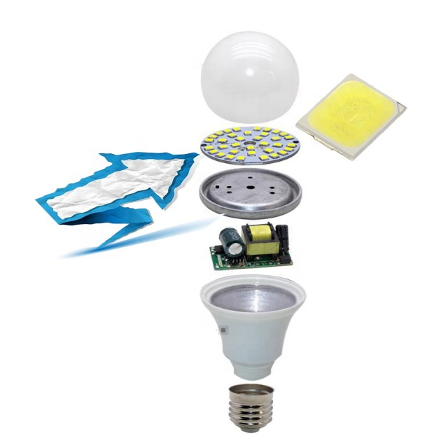 Good Quality Long life with 2835 18V 36V 0.5W 1W 130-140lm for energy saver LED Bulb light raw material