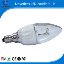 High lumen e12 e14 C35 led chandelier bulb 4W driverless bulb new tech product made in China