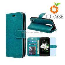 Genuine leather wallet smartphone case folio flip ultra slim soft leather for iphone 7 case