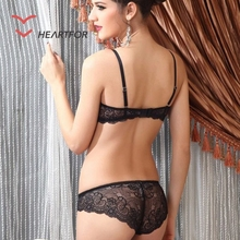 High Quality Ladies Lace Transparent Sexy Bra Set Underwear for Women