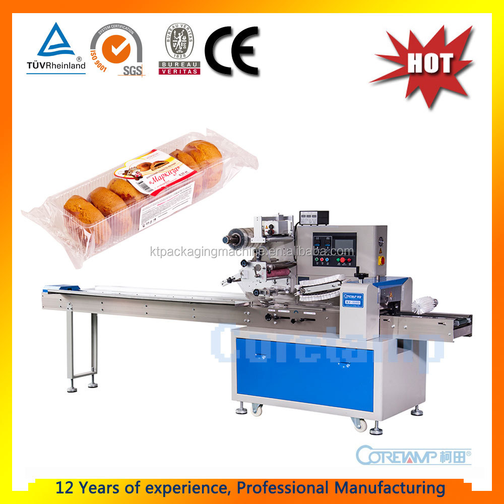 Automatic Pillow Horizontal Flow Packing Machine for Candy/Bread/Chocolate/Pancake/Soap/Biscuit