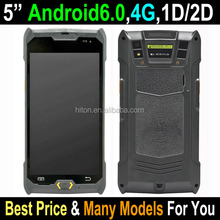 2017 Cheapest Stock 5 inch Android 6.0 handheld 2D scanner pda pos terminal, Portable PDA with 2D scanner Wifi NFC PSAM GPS