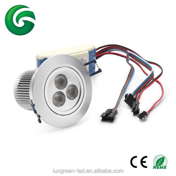 Popular 3x8W 24VDC RGBW (4 in 1) LED Downlight with 3 years warranty