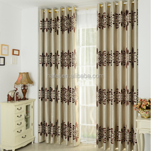 100% polyester popular style heavy jacquard window curtain