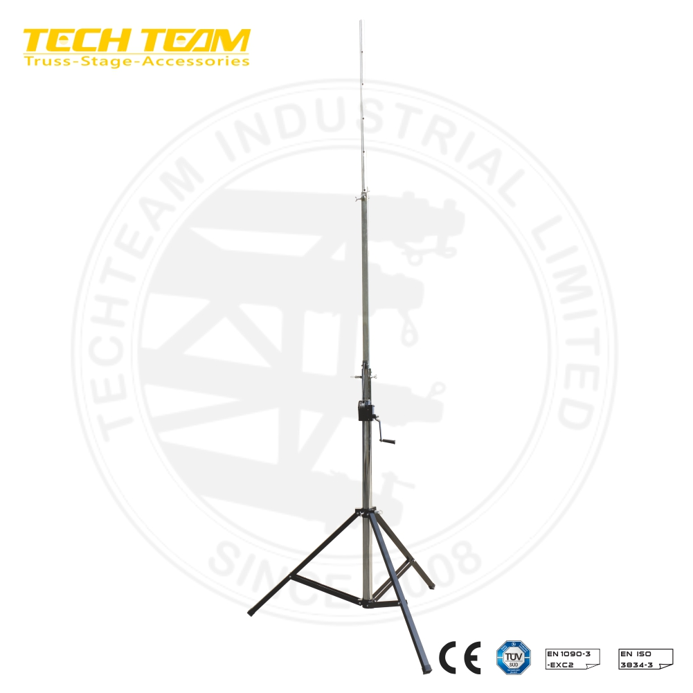 Adjustable height from 1.89m to 4.1m ,max loading weight 80kg truss lift tower light tower