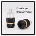 Transparent Pure Copper Rhodium Plated HIFI European power plug