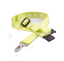 Top quality custom design adjustable lanyards with sublimation printing logo