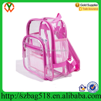 Casual Clear PVC Backpack Plastic Book Bag Transparent PVC Backpack