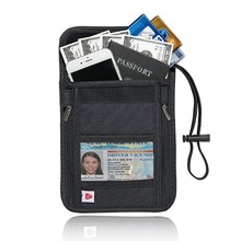 RFID Blocking Passport Holder Neck Stash Pouch Security Anti-Theft Travel Wallet