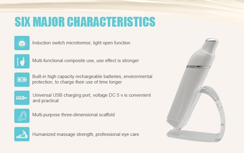Photon Light Ion Beauty Eye Pen / Multifunction Ultrasonic Eye Care Massager