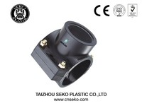 hdpe pp saddle clamp/compression adding exit clamp saddle for water supply pipe fittings
