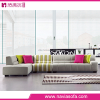 Modern and fashion comfortable hot corner fabric sofa furniture from china with prices accept ODM or OEM