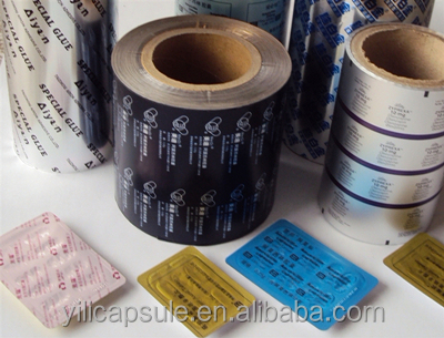 Aluminum foil for drug blister packing; aluminum foil packing film PTP blister foil