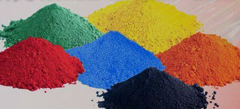 Iron oxide pigment for cement