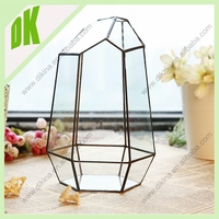 Copper geometric vases for decoration in party // Excellent quality low price Brass Flower Tableware copper vase india
