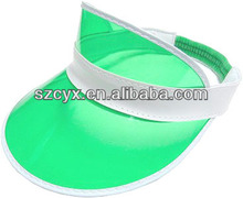 PVC plastic sun visor for UV protection