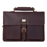 100 Guarantee Leather Vintage Briefcase Mens