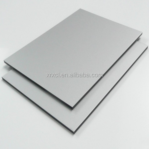 silver grey PE/PVDF damp proofing water proofing aluminum composite panel