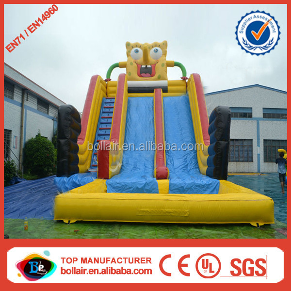 Double lane spongebob kids used water slides for sale