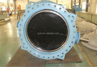 HIGH PREFORMANCE BIG SIZE ALUMINIUM CAST IRON STANDARD BLUE BUTTERFLY VALVE THOUGH SHAFT WITH PIN