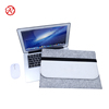 Gray white splicing felt 14 inch computer bag tablet case laptop bag sleeve with Elastic rope