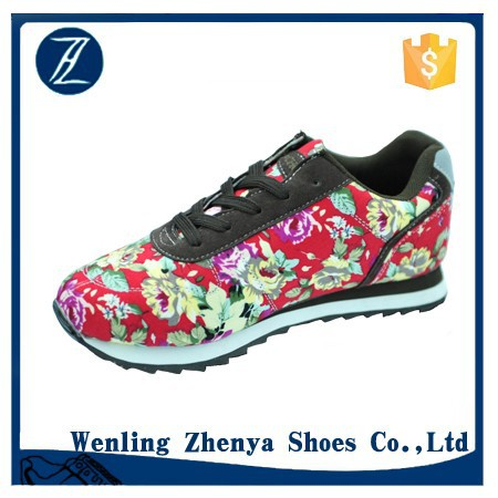 2016 new design fashion women lady casual sneaker sports shoes Chinese wind festival quality women shoes