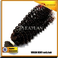 Fayuan Wholesale italian curl hair extension natural color DHL fast shipping
