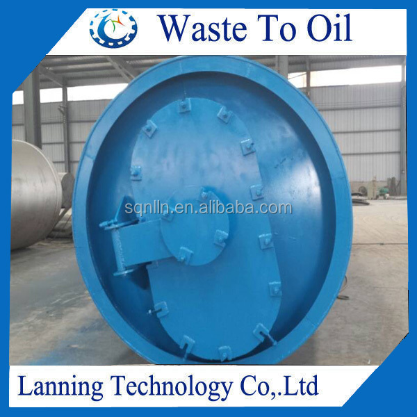 tyre crude oil extracting machine from tyre rubber plastic
