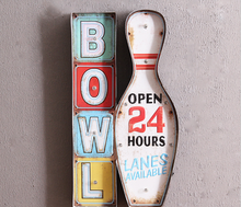 Bowl Open 24 Hours Lanes Available LED Coffee Tin Sign,Metal <strong>Craft</strong> Wholesale