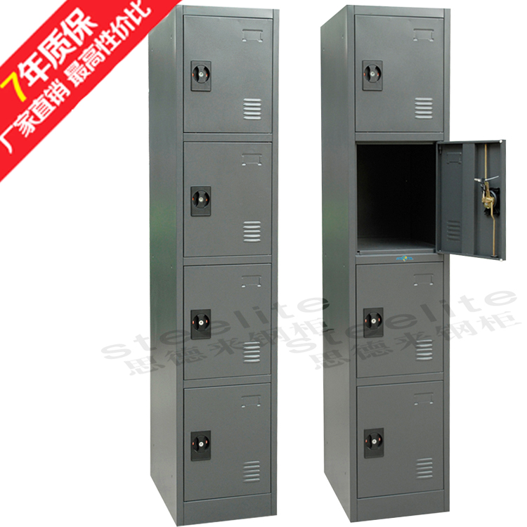Suitable for storing smaller items and bags zinc annealed steel 4 door locker unit without clothes rod